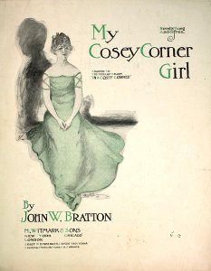 sheet music cover - My Cosey Corner Girl